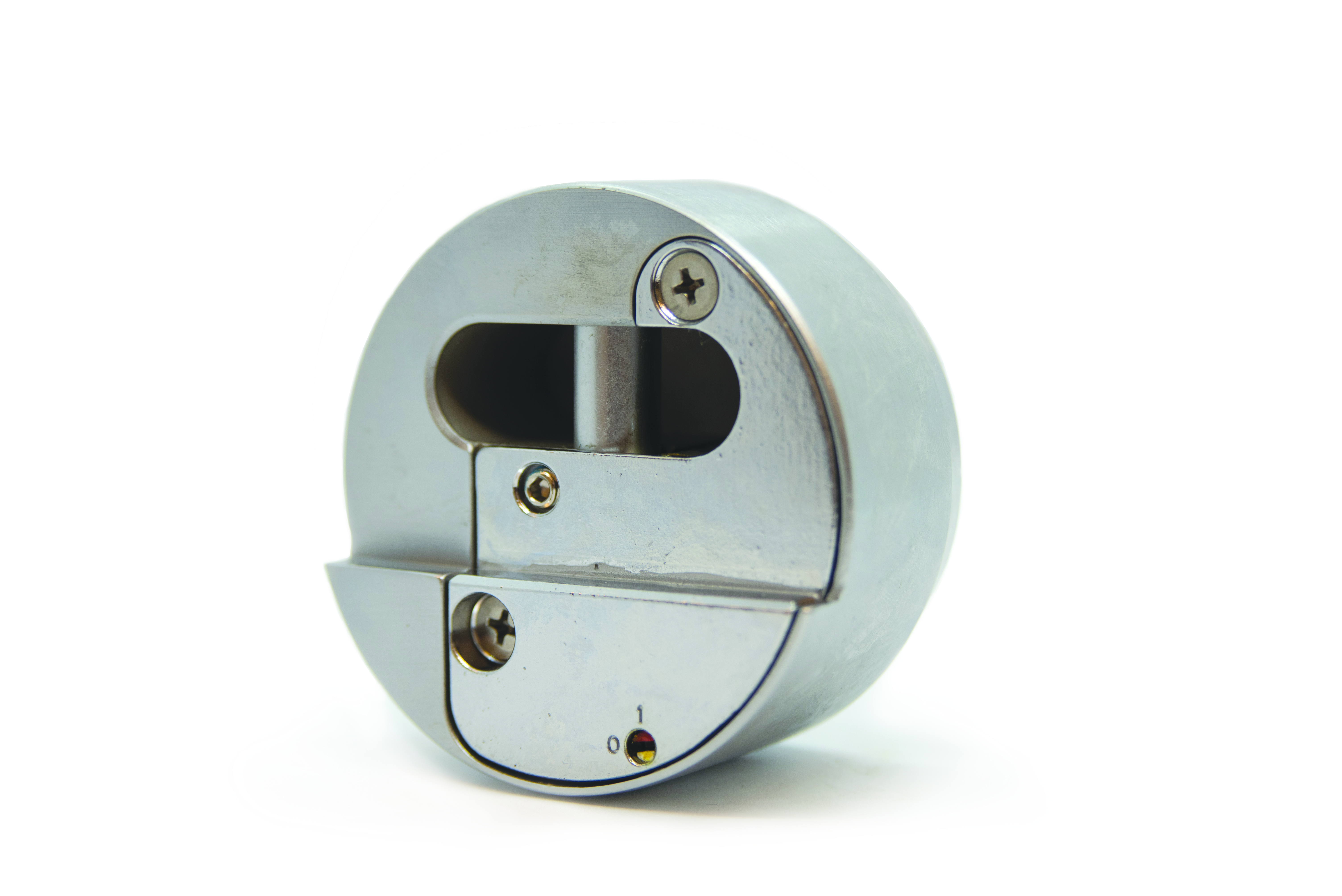 930 Series Puck Lock with Stepped Back and Hardened Steel Body 93001